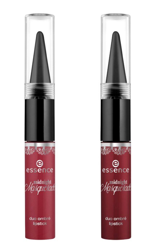 Essence Midnight Masquerade Duo Ombre Lipstick Collage