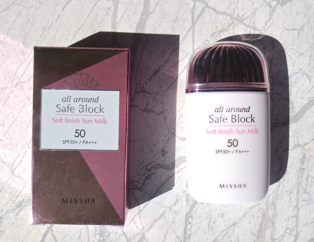 Missha All Around Safe Block Soft Finish Sun Milk - mein Review