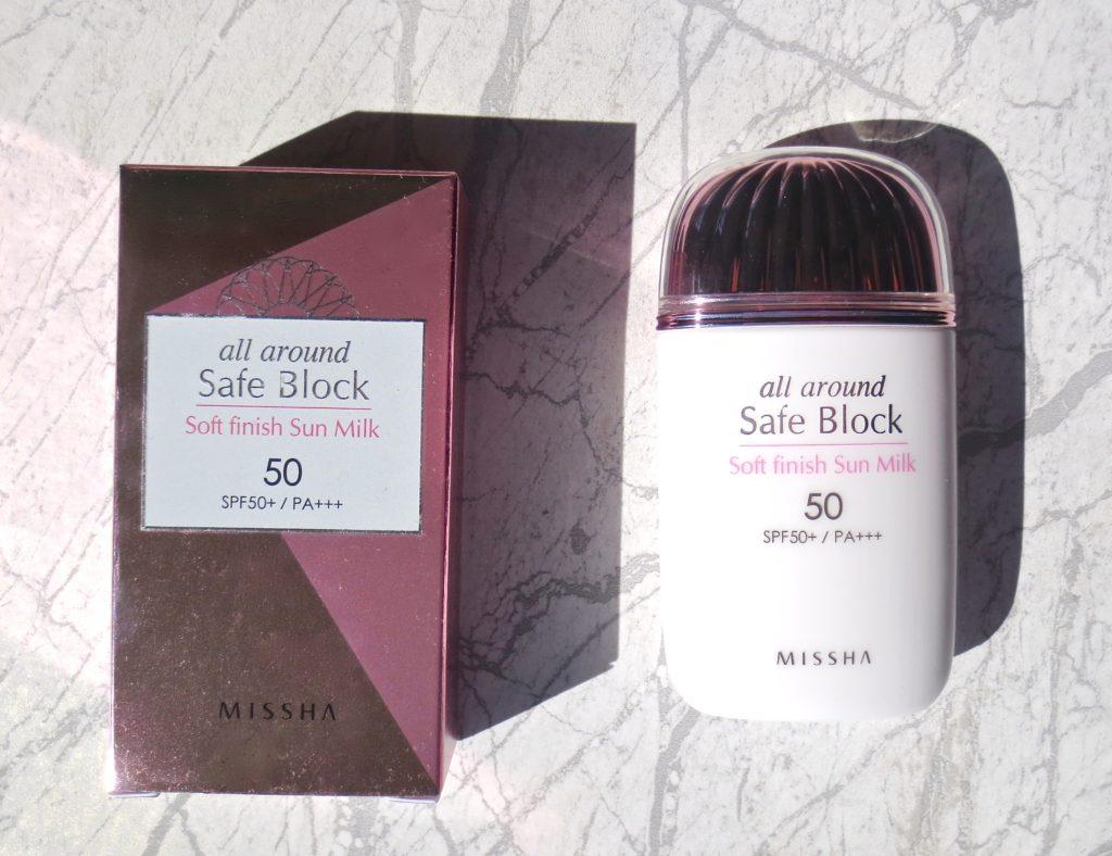Missha All Around Safe Block Soft Finish Sun Milk - mein Review