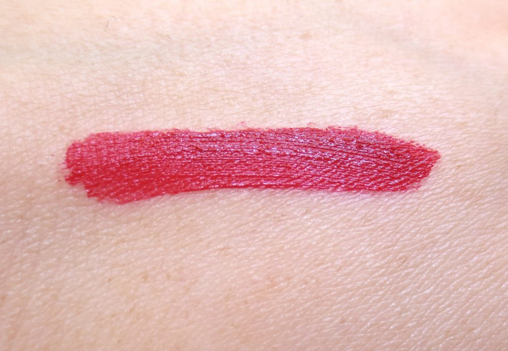 catrice Retrospective Velvet Liquid Lipstick C01 Return to REDtro Swatch