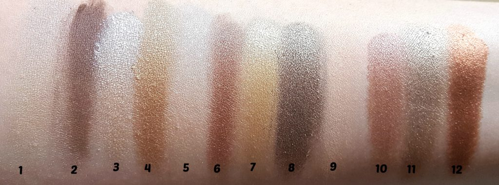 Sleek Makeup I-Divine All Night Long Palette Swatches