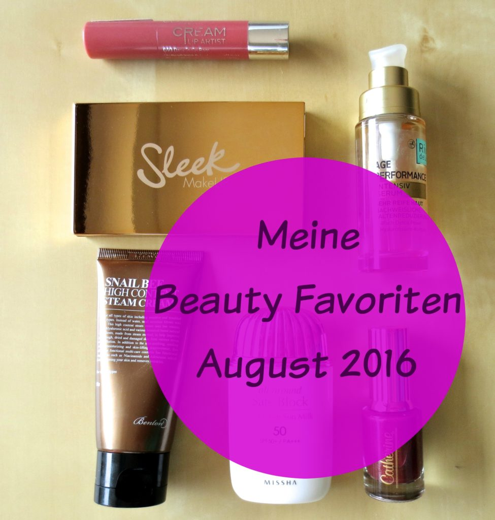 Beauty Favoriten August 2016 header