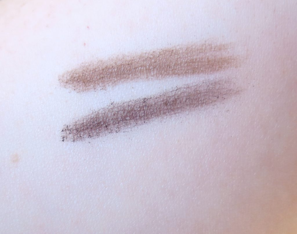 essence me and my umbrella eyebrow thickener swatches