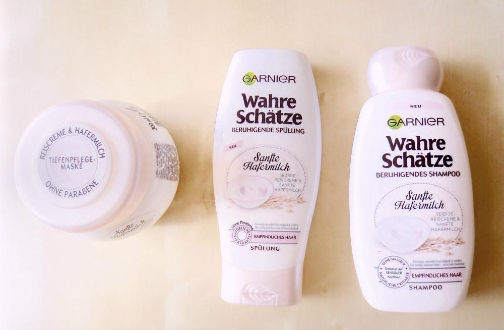Garnier wahre Schätze sanfte Hafermilch - Silikone