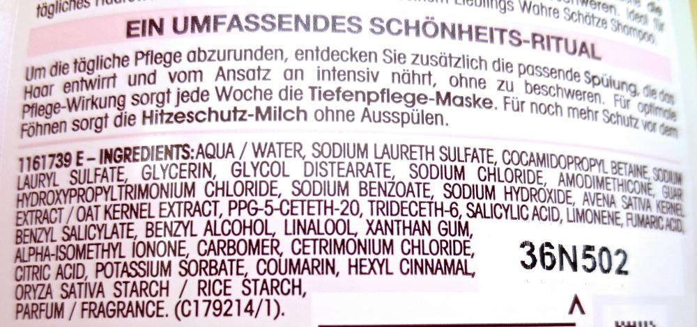 Garnier Wahre Schätze sanfte Hafermilch Shampoo Inhaltsstoffe