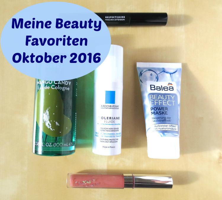Meine Beauty Favoriten Oktober 2016