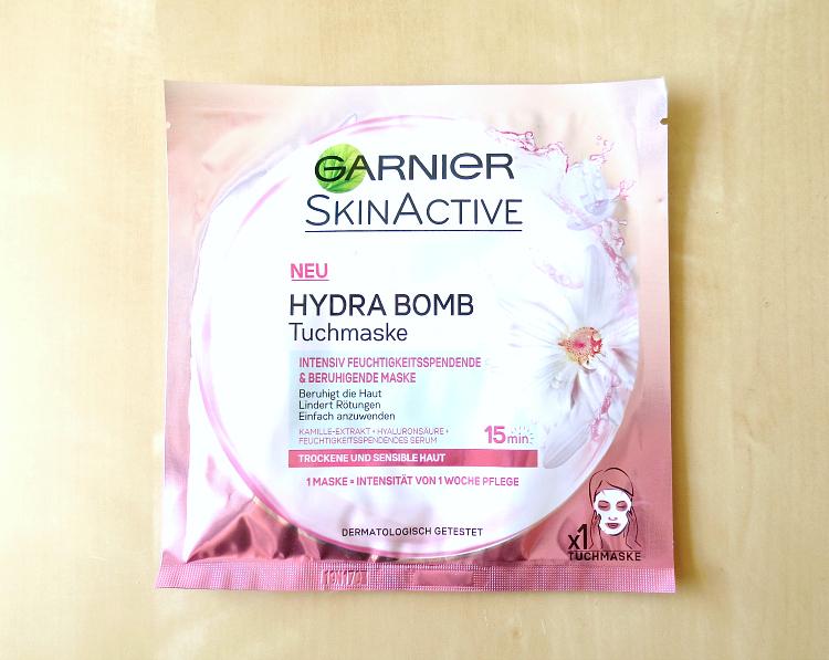 garnier hydra bomb tuchmaske trockene und sensible haut-rosa