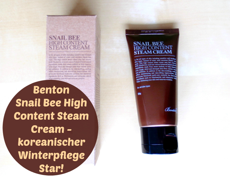 benton snail bee high content steam cream header