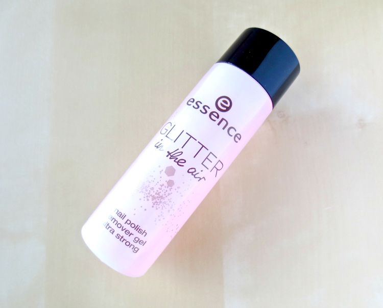 essence glitter in the air nail polish remover gel