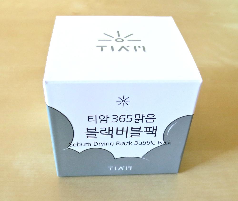 Tia'm Sebum Drying Black Bubble Pack Bubble Maske