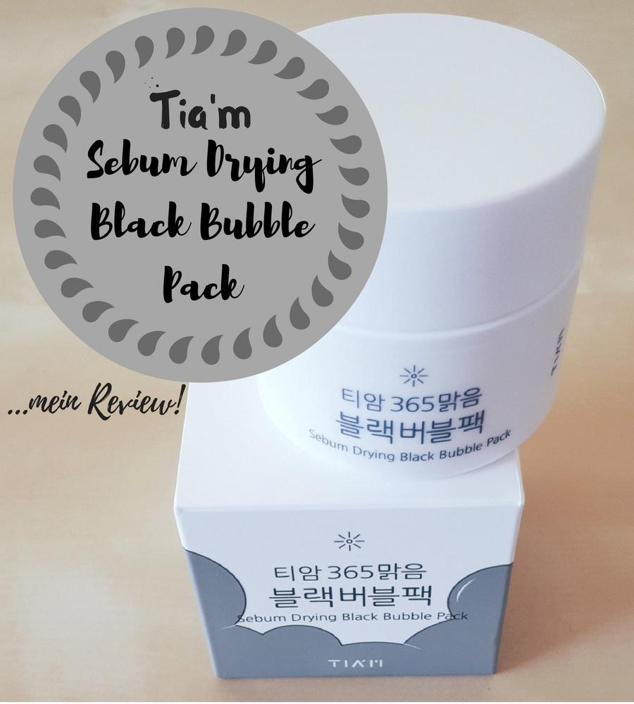 Tiam Sebum Drying Black Bubble Pack Review Header