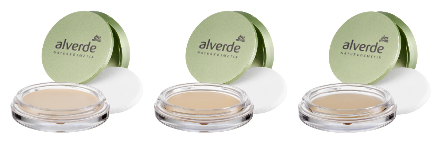 alverde gel cream to powder makeup