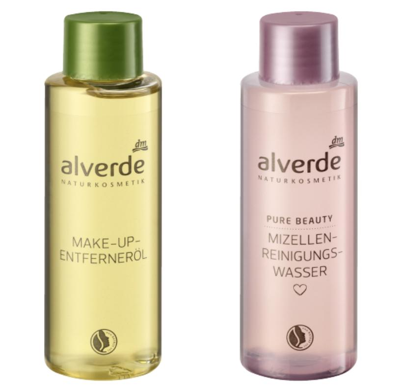 alverde makeup entferneröl und alverde mizellen reinigungswasser