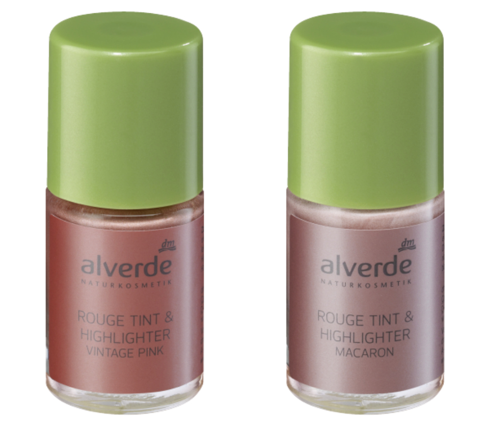 alverde rouge tint & highlighter