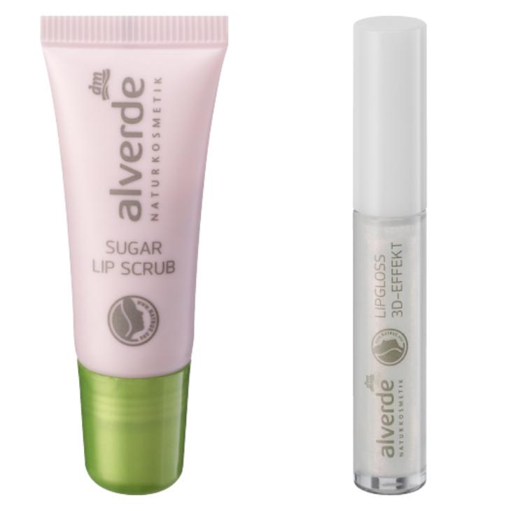 alverde sugar lip scrub, alverde lipgloss 3d effekt