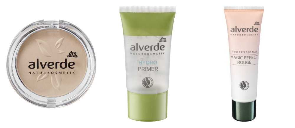 alverde hydro primer, alverde magic effect rouge