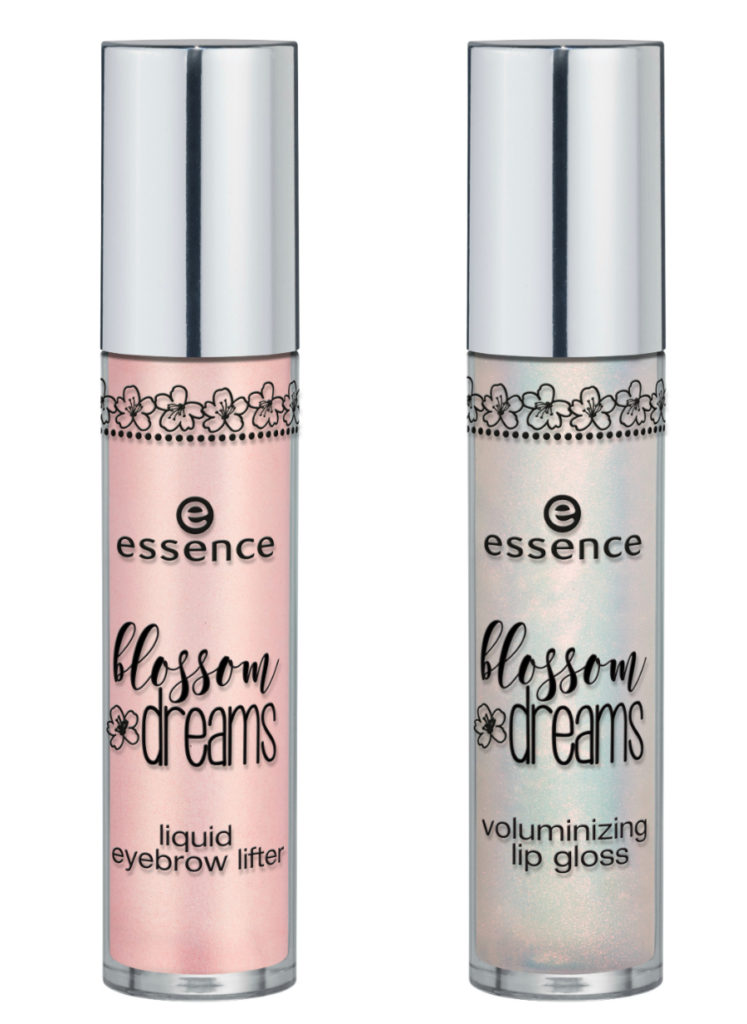 essence blossom dreams Limited Edition liquid eyebrow lifter und volumizing lip gloss