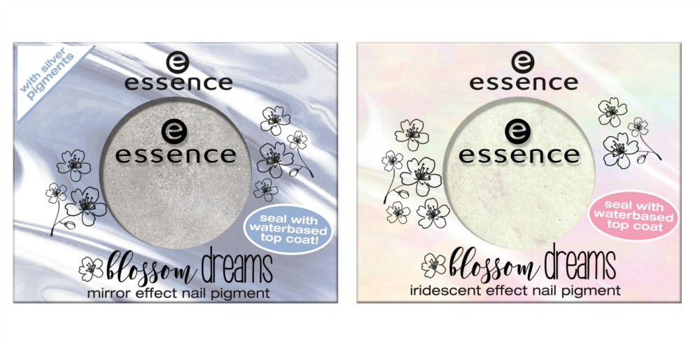 essence blossom dreams Limited Edition mirror effect nail pigment, iridescent pigment