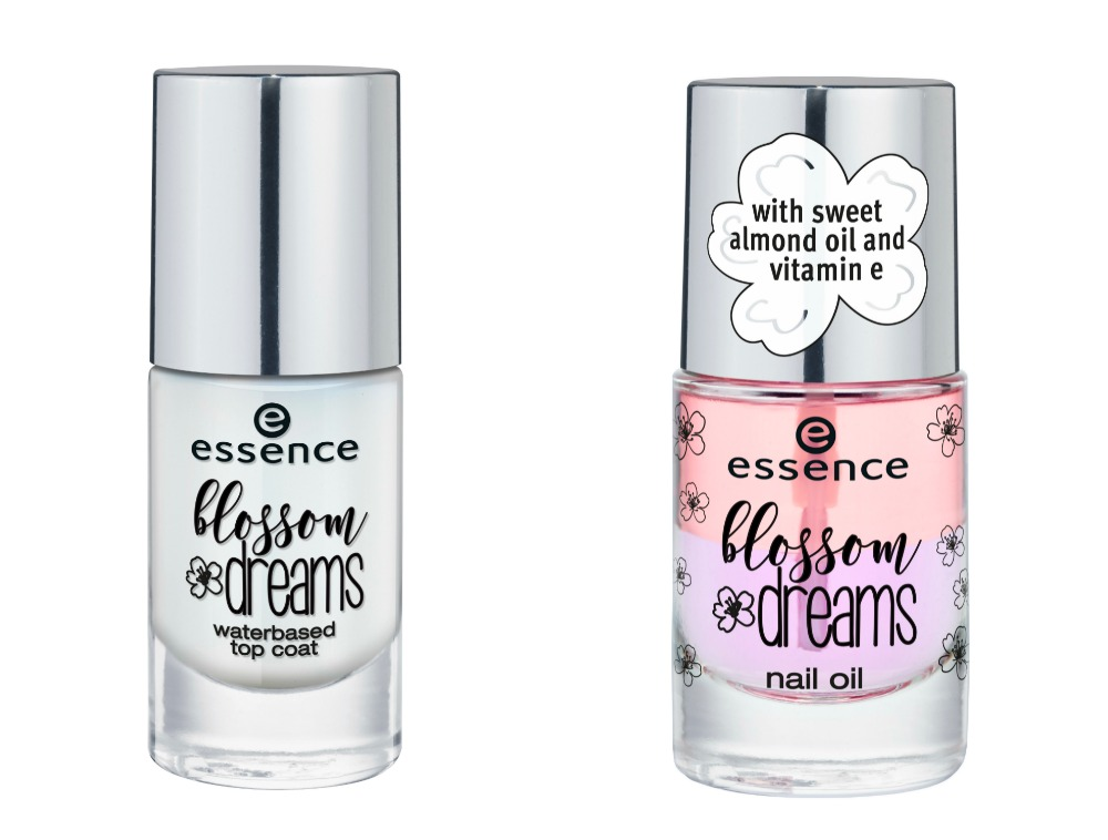 essence blossom dreams Limited Edition water based top coat und nail oil
