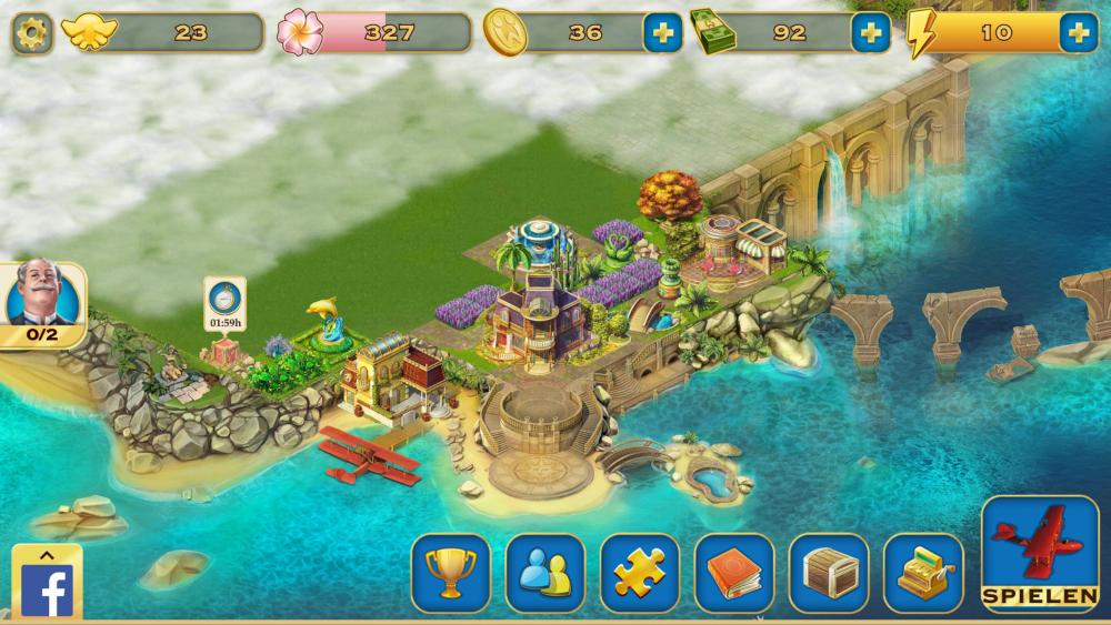 Pearl's Peril Insel dekorieren