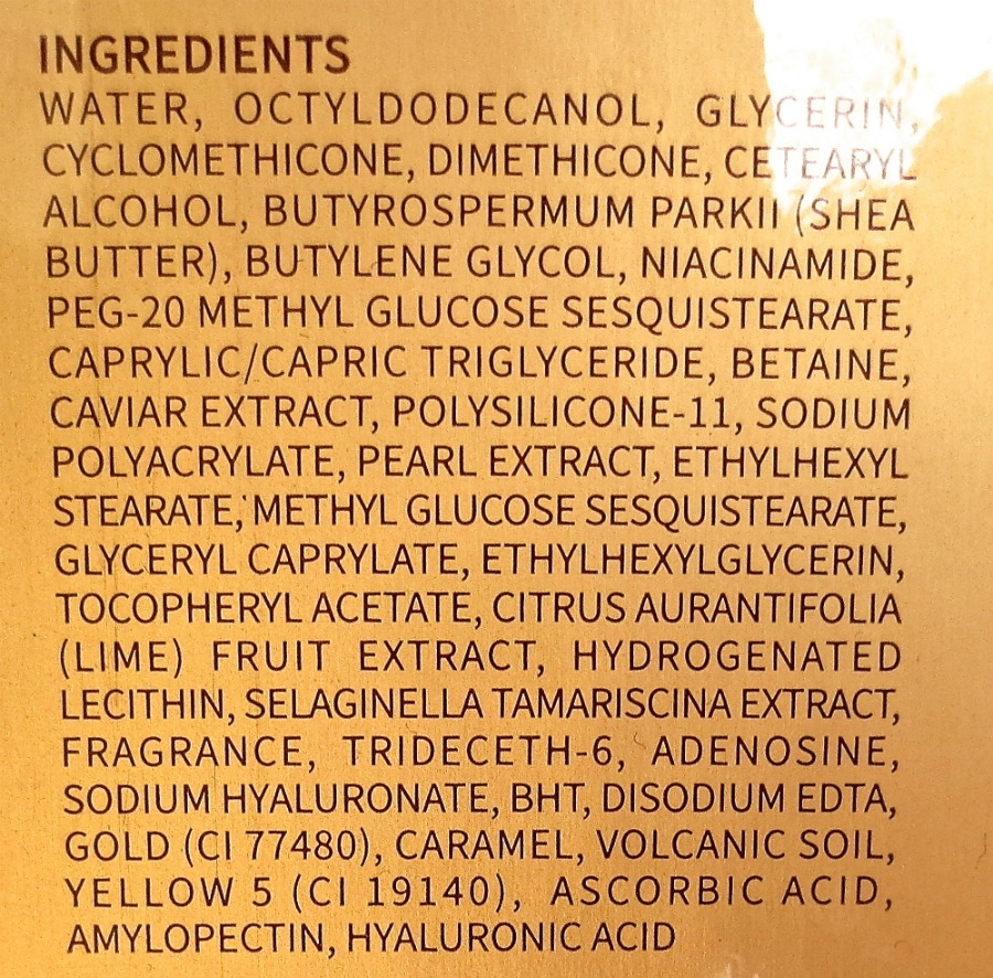 Lui & Lei Diana Gen Prestige Gold Caviar Cream Incis Inhaltsstoffe
