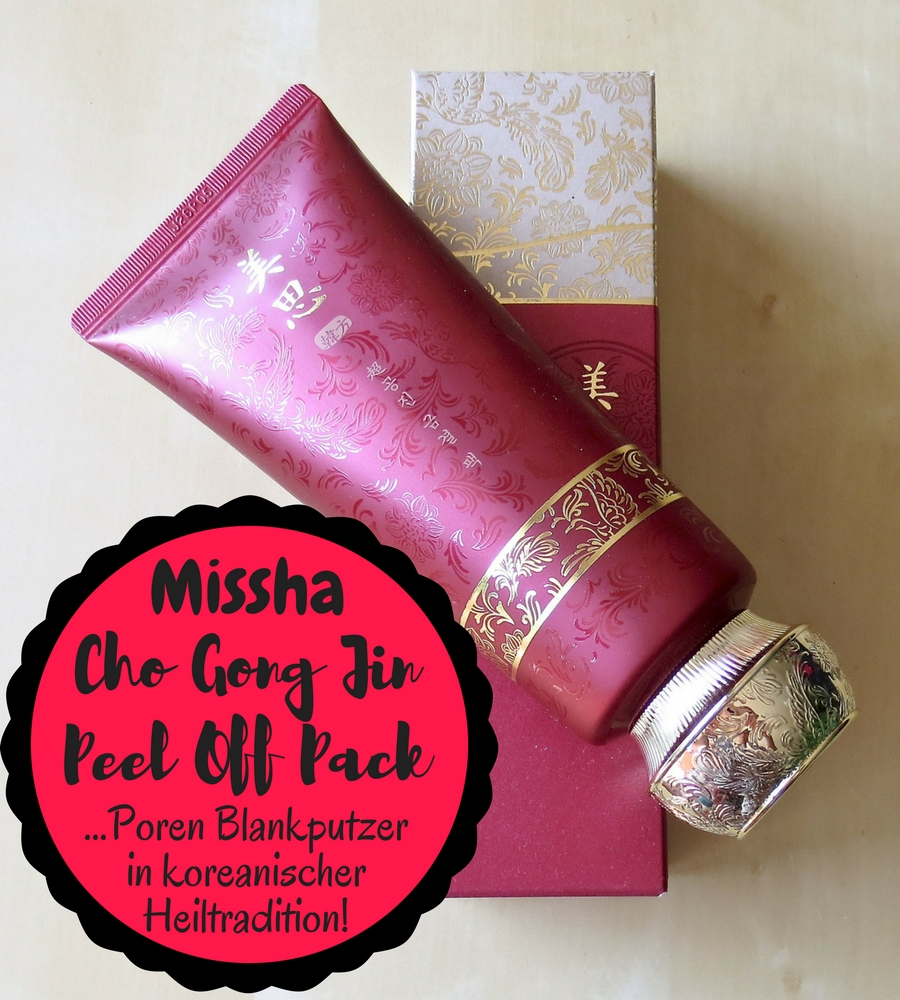Missha Cho Gong Jin Peel Off Pack – Poren Blankputzer in koreanischer Heiltradition!