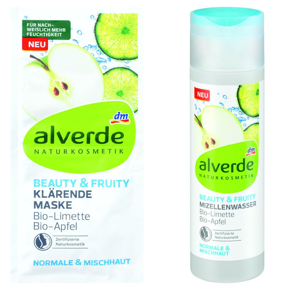 alverde beauty & fruity klärende Maske und alverde Mizellenwasser