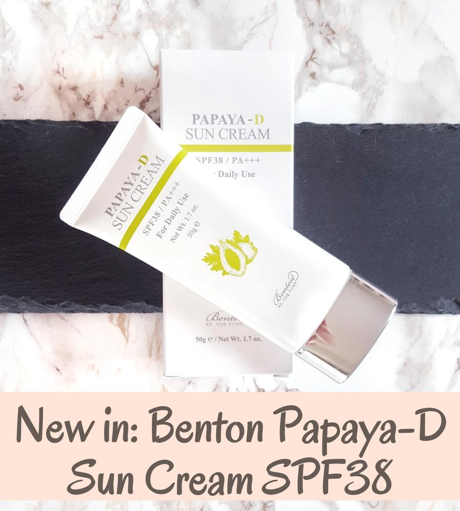 Benton Papaya D Sun Cream SPF38 – neuer KBeauty Sonnenschutz im Test!