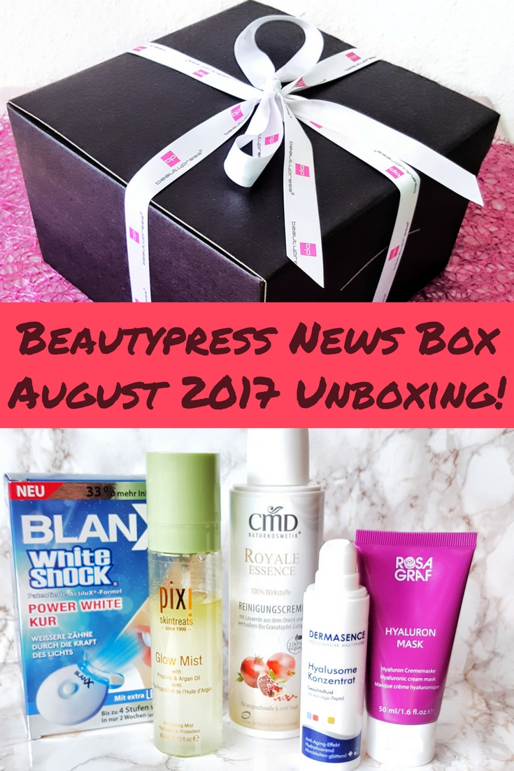 Beautypress News Box August 2017 Unboxing
