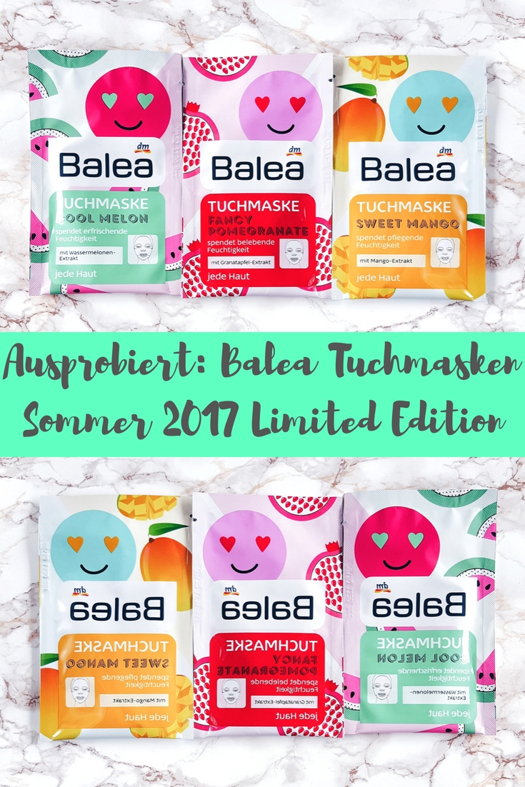 Balea Tuchmaske Sommer 2017: Cool Melon, Sweet Mango, Fancy Watermelon ausprobiert