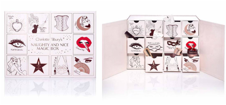 charlotte tillbury adventskalender 2017 naughty & nice magic box