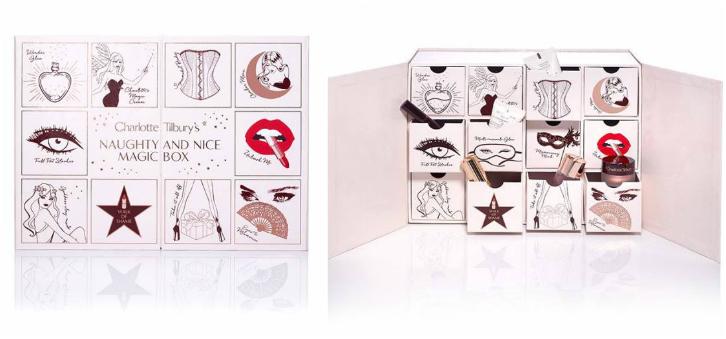 charlotte tillbury adventskalender 2017 naughty & nice magic box