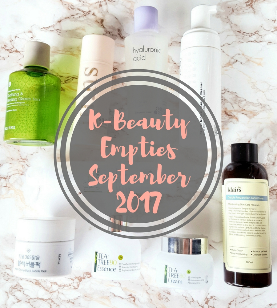 Meine K-Beauty Empties September 2017