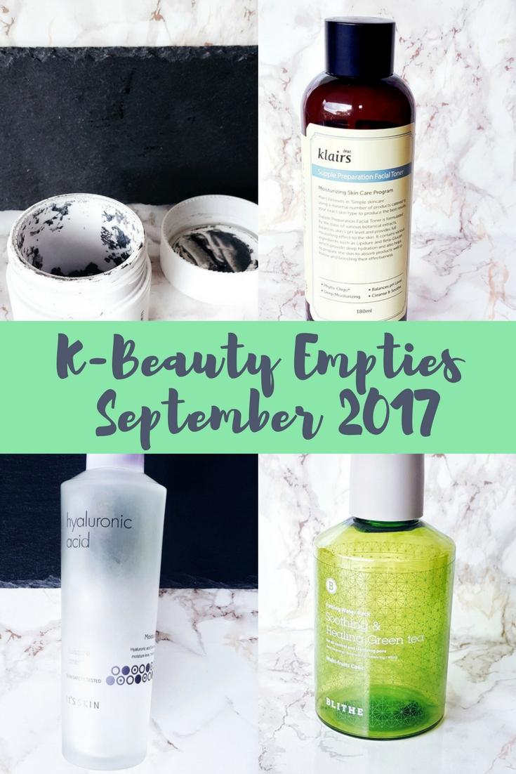 K-Beauty Empties September 2017
