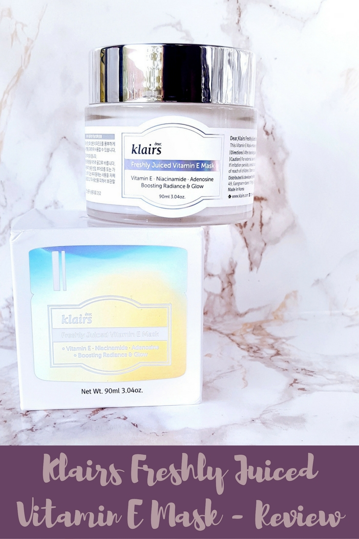 Klairs Freshly Juiced Vitamin E Mask Review