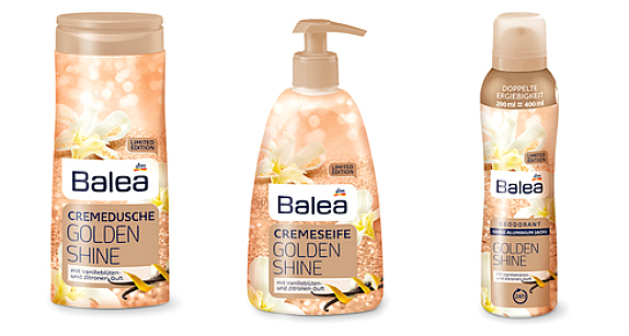 Balea Limited Edition Winter 2017 golden shine