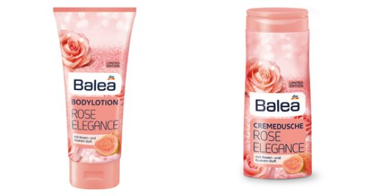 Balea Limited Edition Winter 2017 rose elegance cremedusche bodylotion