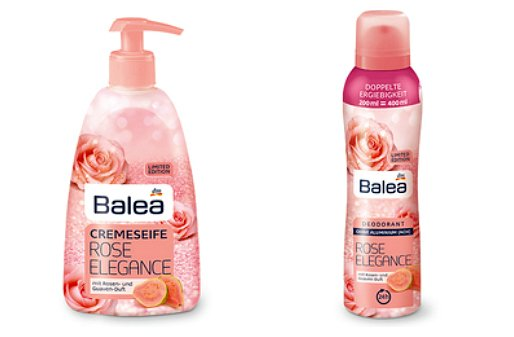 Balea Limited Edition Winter 2017 rose elegance cremeseife