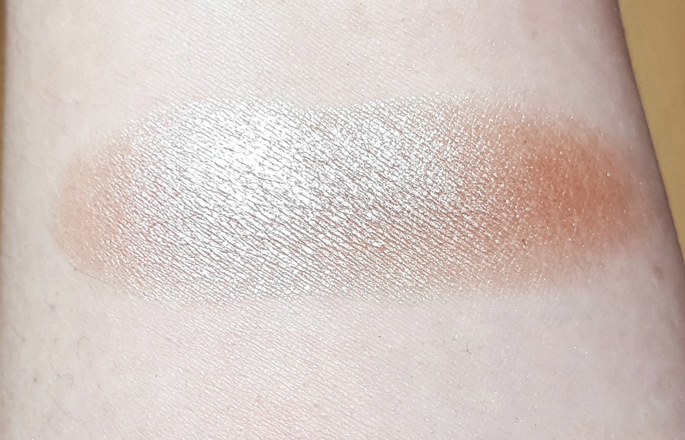 drogerie highlighter 3d chrome metal blush copper crush swatch