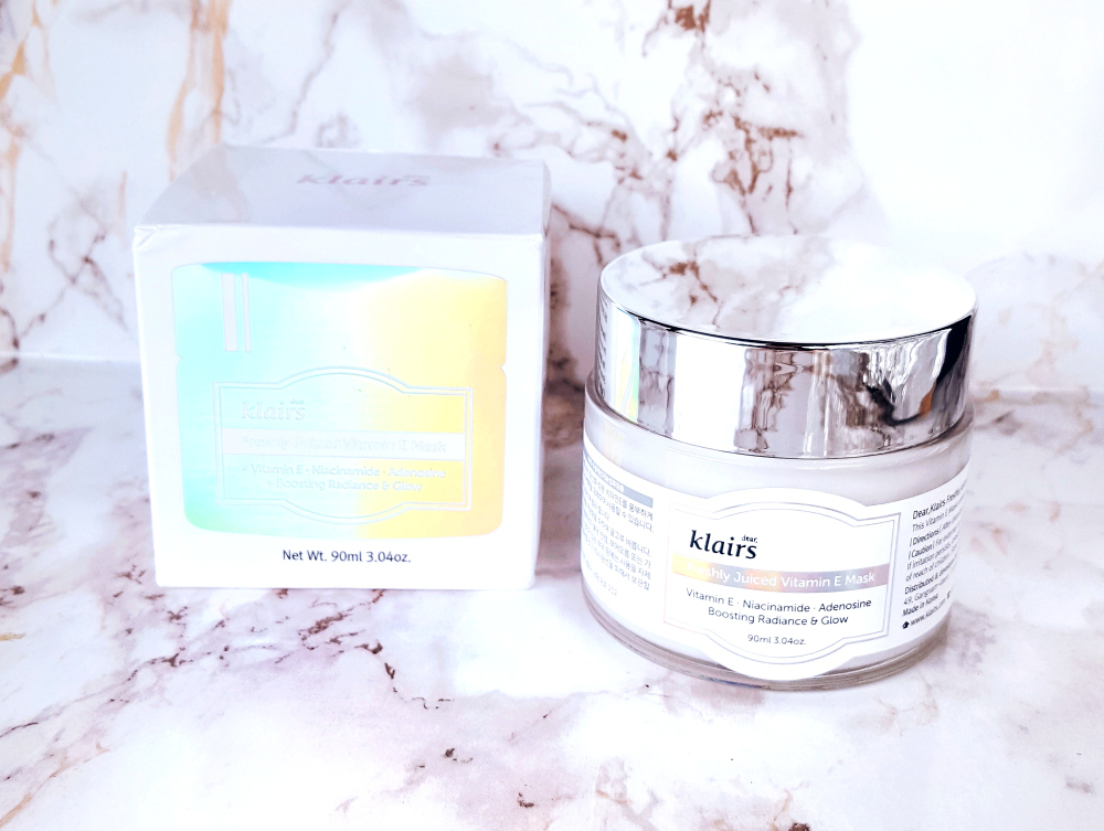 klairs freshly juiced vitamin e mask product review