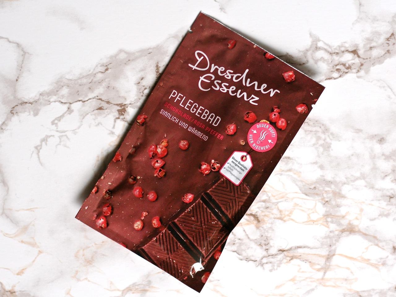 Winterliche Badezusätze Dresdner Essenz Schokolade rosa Pfeffer