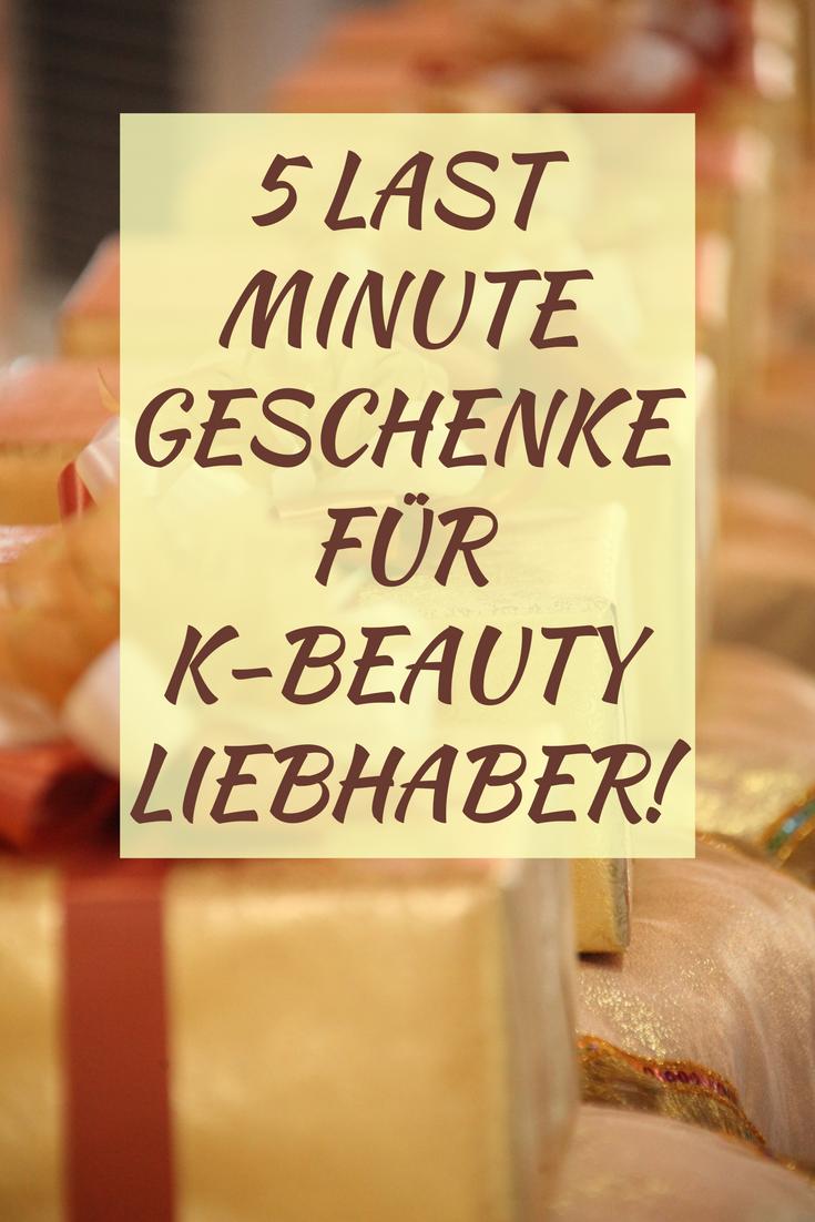5 Last Minute Geschenke Ideen für K-Beauty Liebhaber!