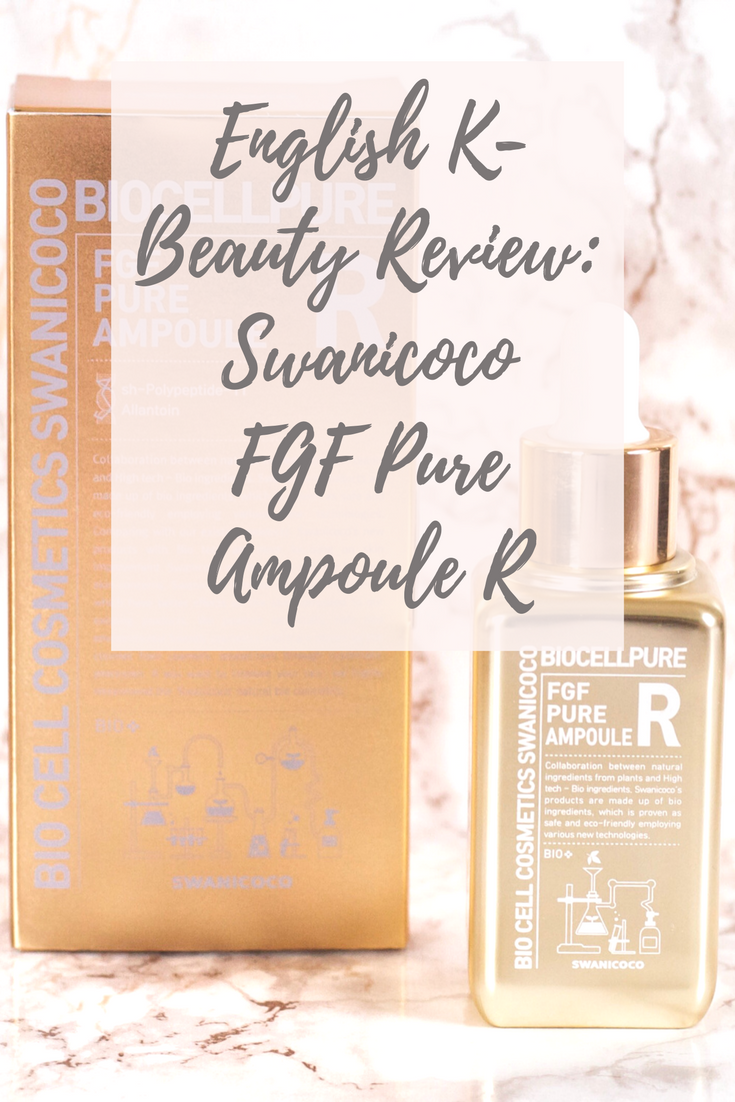 Swanicoco FGF Pure Ampoule R - English Kbeauty Review