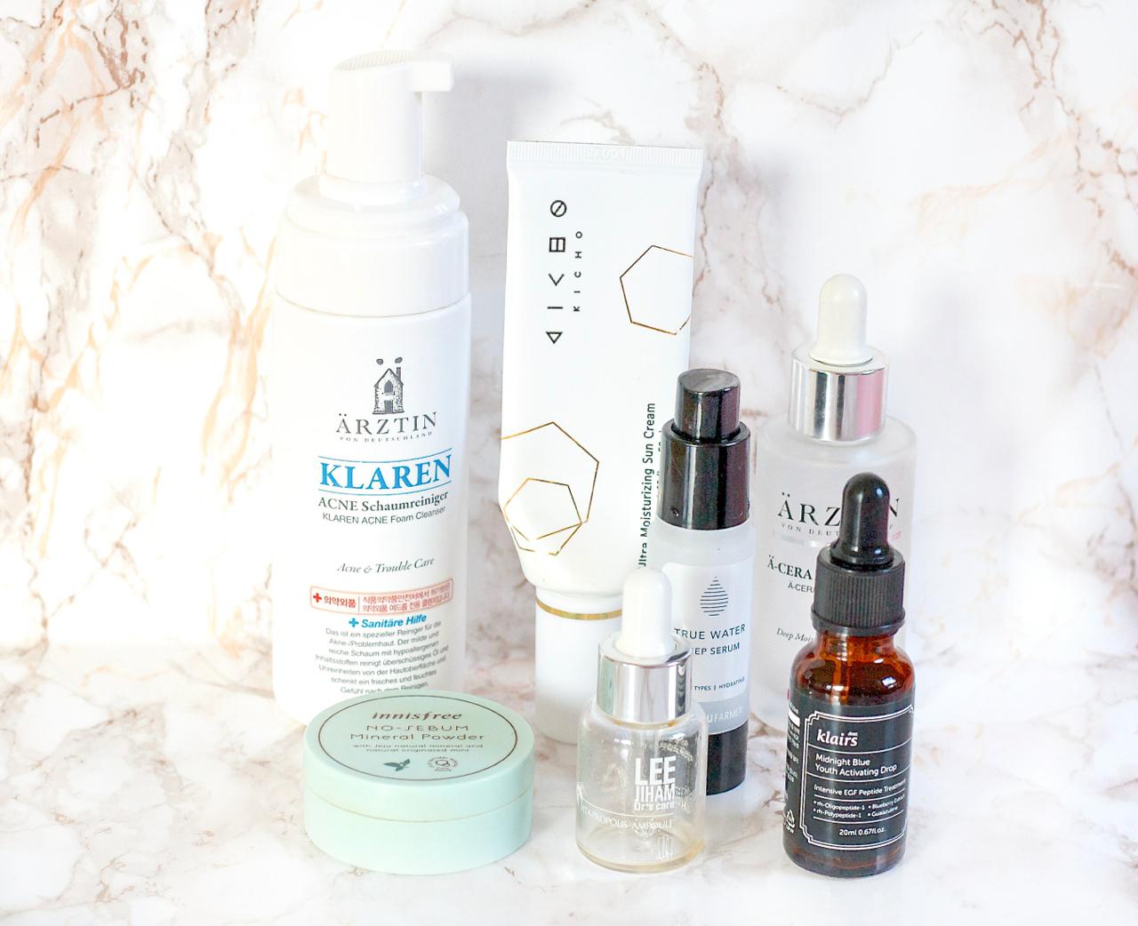 K-Beauty Empties Januar 2018 Produkte