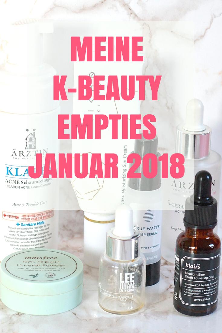 Meine K-Beauty Empties Januar 2018