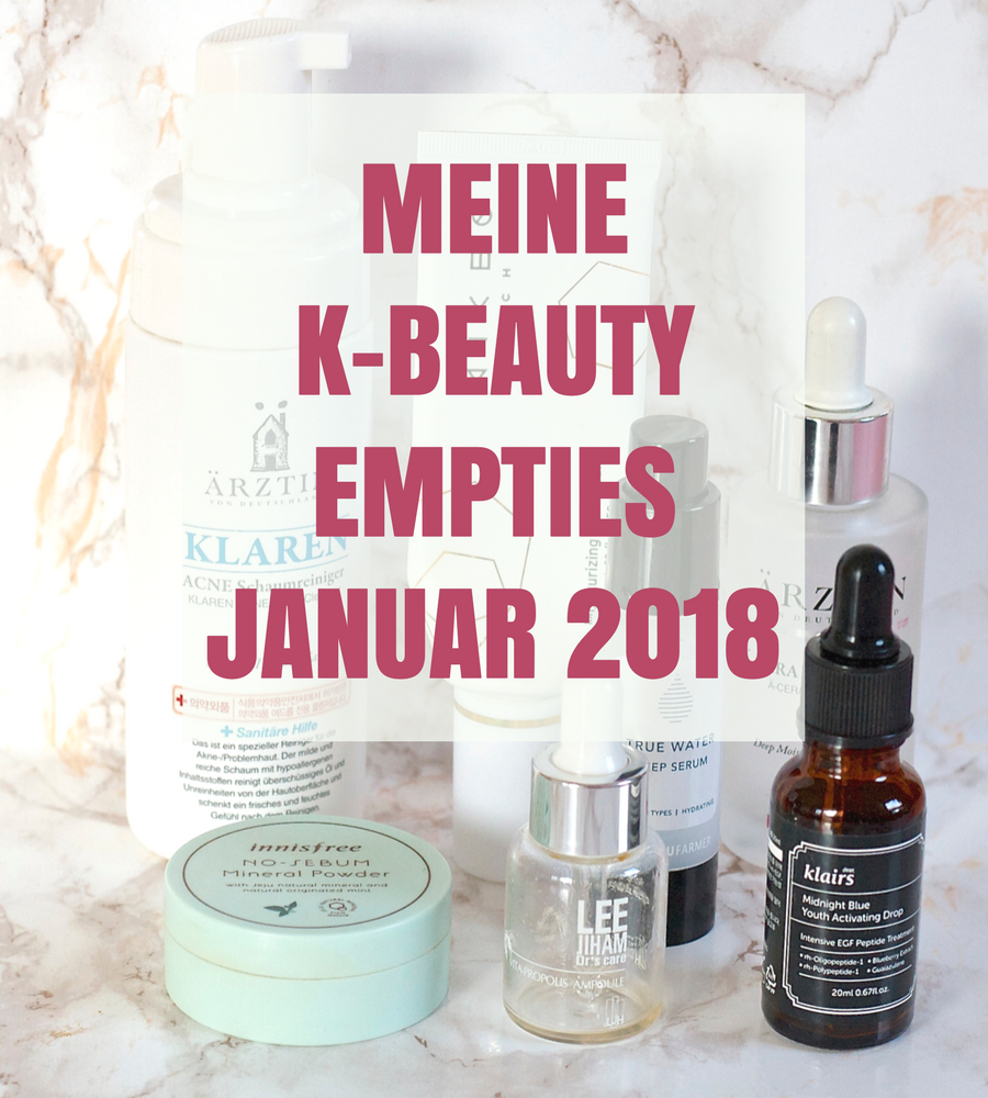 [GER] Meine K-Beauty Empties Januar 2018