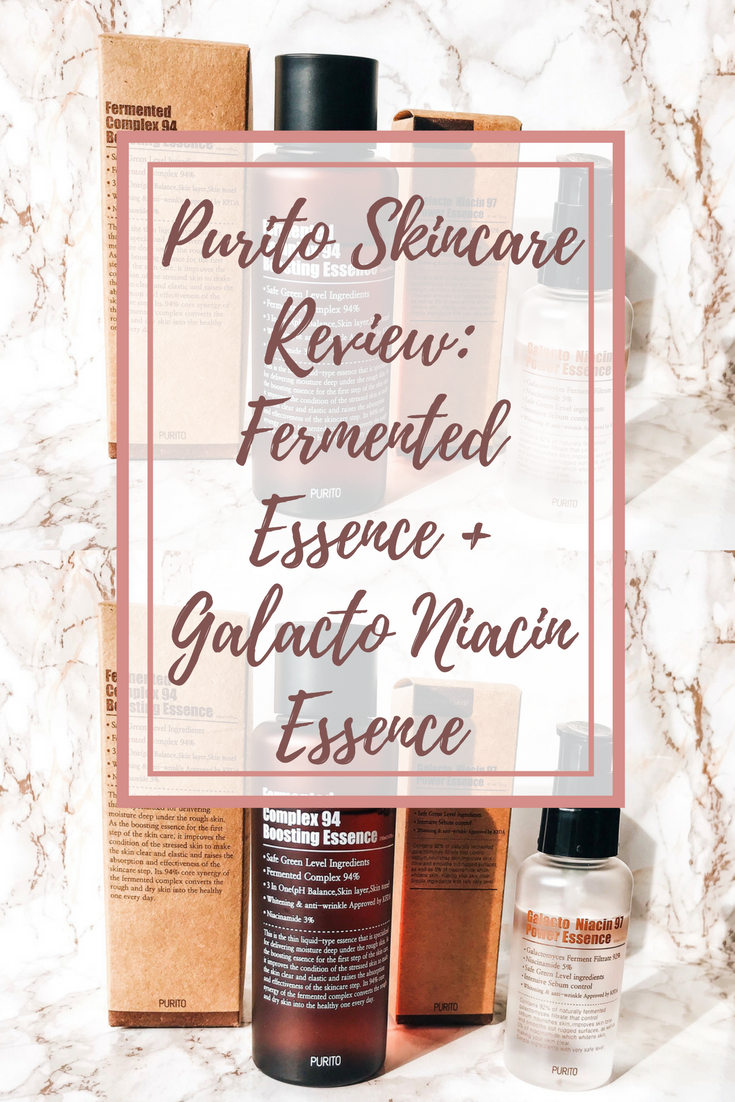 Purito Skincare Review: Fermented Essence + Galacto Niacin Essence