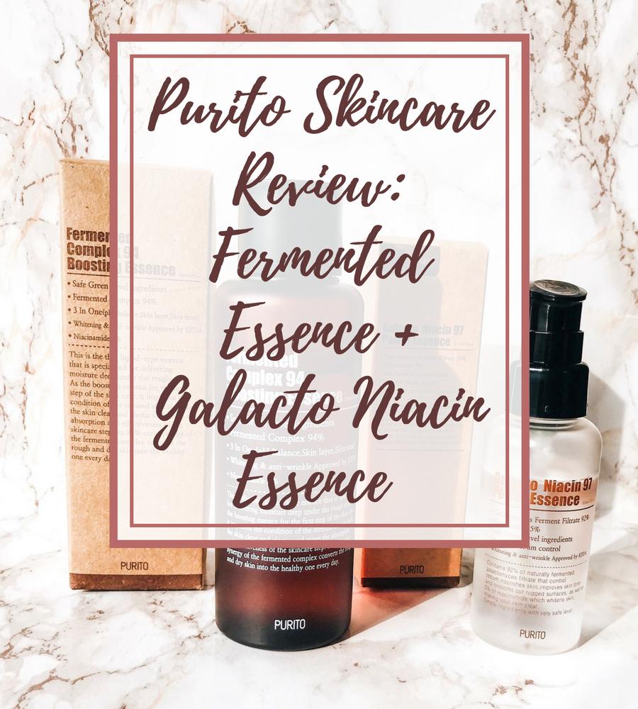 [ENG] Purito Skincare Review: Fermented Essence + Galacto Niacin Essence