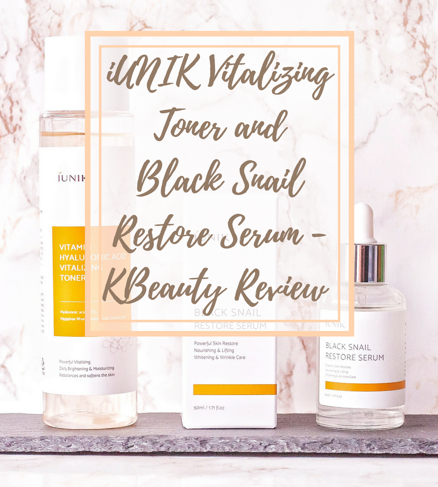[ENG] iUNIK Hyaluronic Acid Vitalizing Toner and Black Snail Restore Serum