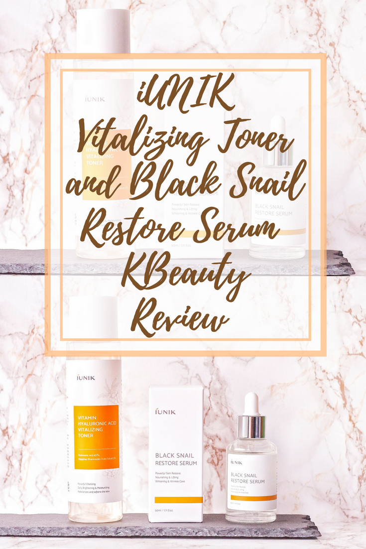 iUNIK Hyaluronic Acid Vitalizing Toner and Black Snail Restore Serum